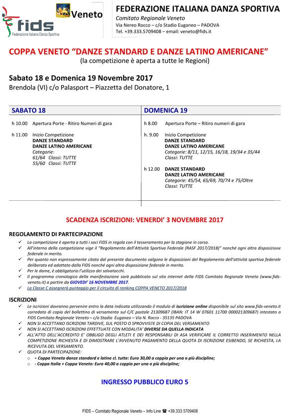 Fids Calendario.Calendario Gare Comitato Regionale Veneto