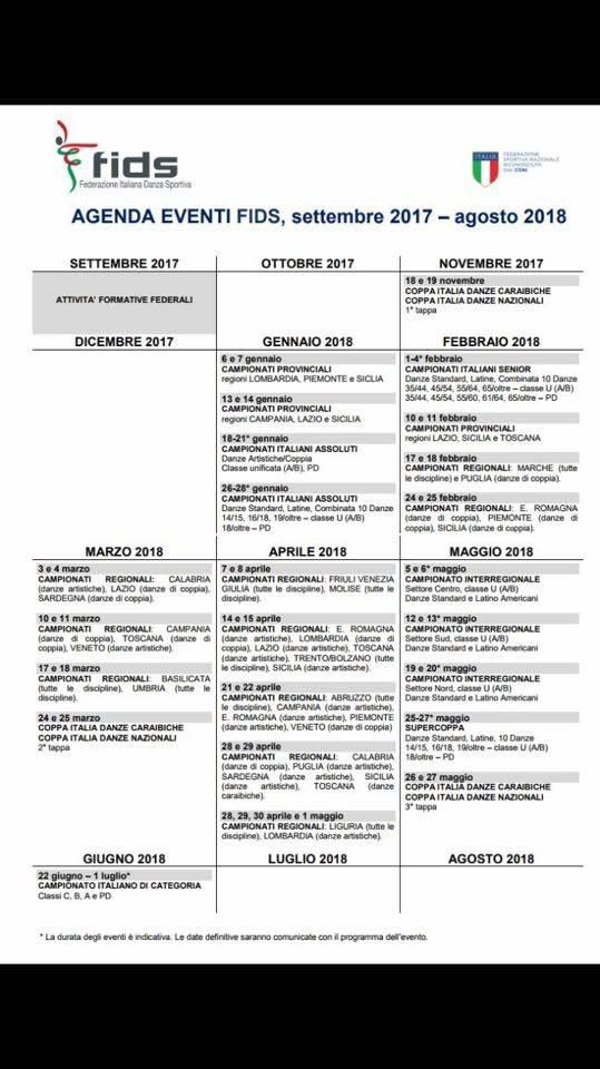 Fids Calendario.Fids It Calendario Eventi Calendario 2020